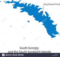 Map Of The South Map Of South Georgia And Sandwich Islands With Capital City Stock