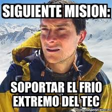 Memes Tec - meme bear grylls siguiente mision soportar el frio extremo del
