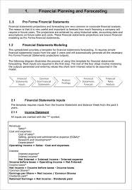 sample proforma income statement 9 documents in pdf word