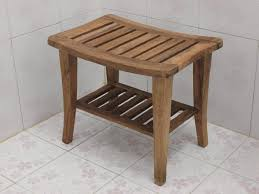 Wooden Shower Stool Teak Shower Bench Bagoes Teak Furniture Indonesian Teak Garden