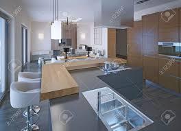 cuisine avec comptoir exceptionnel cuisine comptoir bois conception de la cuisine