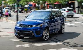 land rover sports car 2016 range rover sport svr tested on performance tires u2013 review