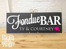 Wedding Table Signs Fondue Bar Wedding Table Sign Custom Personalized