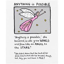 anything is possible card by artist edward monkton grow wings
