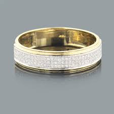 mens gold diamond rings mens diamond bands 14k gold diamond ring 0 27ct gold diamond