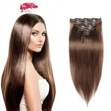 human hair extensions clip in human color 8 hair extensions 7pcs
