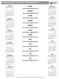 education world 2014 2015 year calendar template