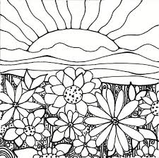 print flower garden coloring pages printable download flower