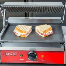 Panini Toaster Oven Avantco P75sg Grooved Top And Smooth Bottom Commercial Panini