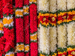 hindu garland india garland for worship hindu god stock photo picture and