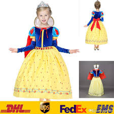 children girls snow white princess dresses cape kids party