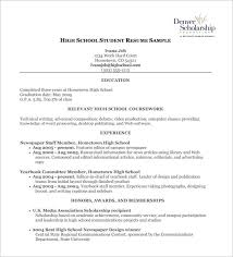 free student resume templates high school student resume template template business