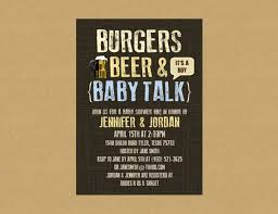 couples shower ideas burgers baby talk couples baby shower invitation