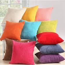 coussin de canap pas cher taie d oreiller couverture velours côtelé coussin canapé décor