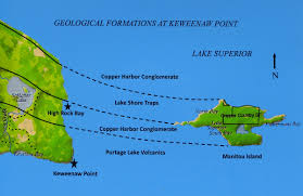 Lake Michigan Beaches Map by Larry Maltby Keweenaw Part 1 Keweenaw Point