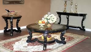 coffee table extraordinary round coffee table sets black wood
