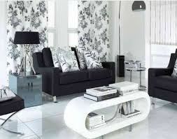 black sofa using floral cushions pattern fabric in apartments