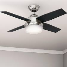 44 inch ceiling fan with light hunter fan dempsey collection brushed nickel 44 inch ceiling fan