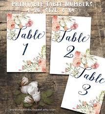 Wedding Table Signs Wedding Table Numbers 1 20 Printable Table Numbers Rustic Table