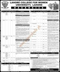 College Lecturer Resume Lahore College For Women University Of Lahore Jobs Paperpk