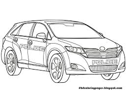 police cars coloring sheets car pages print games lamborghini