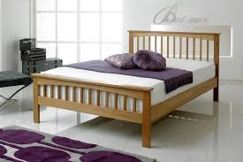 Oak Bed Frame Heywood Solid Oak Bed Frame 4ft6 The Oak Bed Store