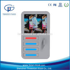 wall mounted cell phone charging station kiosk for public venue