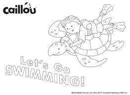 caillou summer fun u2013 coloring sheet 2 caillou activities