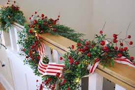 How To Decorate Garland With Ribbon Attractive White Christmas Garland Ribbon To Decorate Staircase