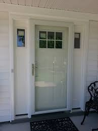 Patio Door With Sidelights Smooth Fiberglass Craftsman Style Entrance Door With Sidelights