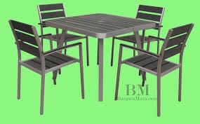 5 Pc Patio Dining Set Patio Furniture Sets Arm 5 Patio Outdoor Furniture Patio