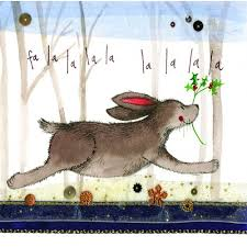 la la la la rabbit christmas card