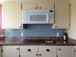 White Kitchen Cabinets With Blue Glass Backsplash White Kitchen - Blue tile backsplash kitchen