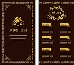 pages menu template black restaurant menu template vectors stock for free