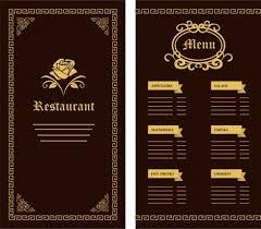 pages menu template black restaurant menu template vectors stock for free
