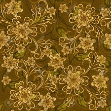 gold flowers seamless background with gold flowers and paisley elements royalty