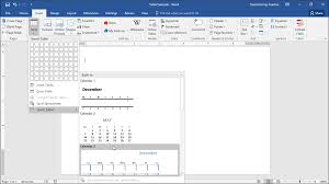 quick tables in word tutorial