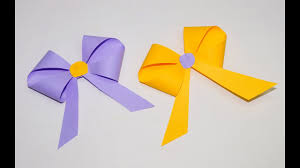 paper ribbon how to make a paper bow ribbon easy origami bow ribbons for