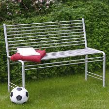 Steel Outdoor Bench Contemporary Garden Benches Furniture Real Estate Metal Garden