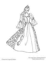 barbie fashion fairytale coloring pages print coloring