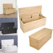 Beech Ottoman Black White Beech Ottoman Storage Chest Blanket Bedding Box