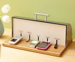 electronic charging station bread box charging station decor hacks