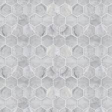Tile Wallpaper Modern Dollhouse Wallpaper Hexagon Marble Tile Modern