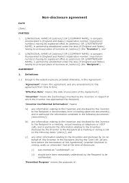 non disclosure agreement invention docular