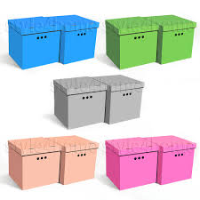 lidded cardboard medium home storage boxes ebay
