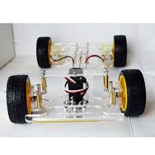 diy steering engine 4 wheel 2 motor smart robot car chassis kit