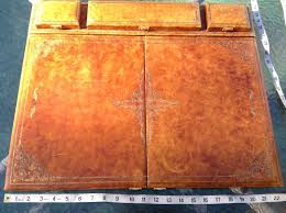 Decorative Desk Pads And Blotters by Vintage Gilded Leather Executive Writing Desk Blotter Pad