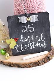 diy countdown chalkboard ornament