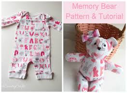 thanksgiving crafts for infants baby clothes memory bear pattern and tutorial pa country crafts