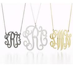 script monogram necklace personalized jewelry curators of style